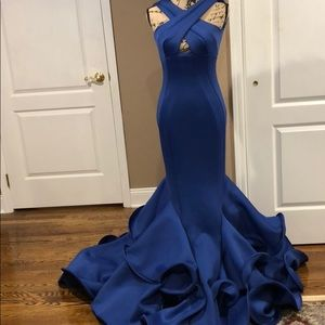Mac Duggal Royal Blue Gown